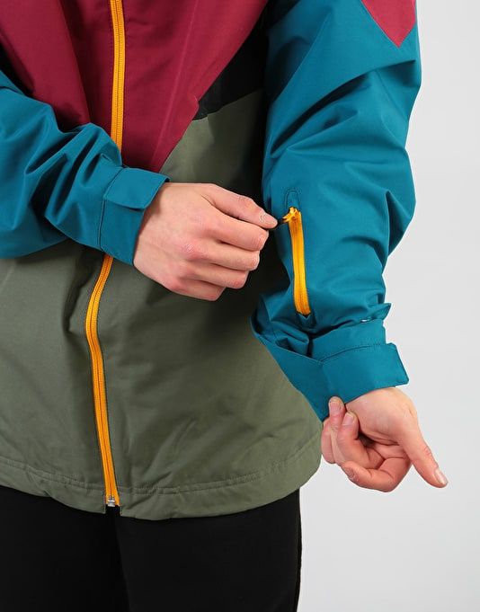 Adidas Premiere Riding 2019 Snowboard Jacket - Base Green/Maroon/Teal