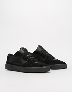 Lakai Cambridge Skate Shoes - Black/Black Suede