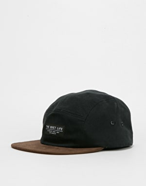 The Quiet Life Cord Combo 5 Panel Cap - Black/Chocolate