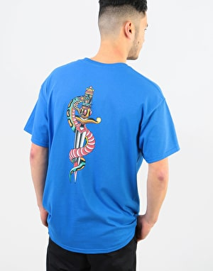 Scarred For Life Snake & Dagger T-Shirt - Royal Blue