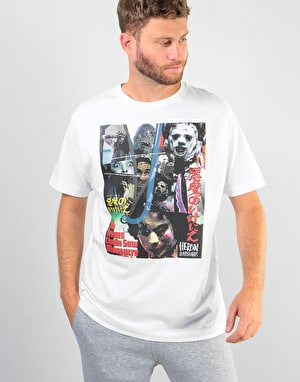 Heroin x Texas Chainsaw Massacre Posters T-Shirt - White