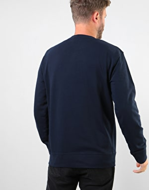 Carhartt Hooded College Sweatshirt - Dark Navy/White