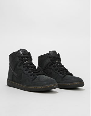 Nike SB Zoom Dunk High Pro Deconstructed Premium Skate Shoes - Black/B