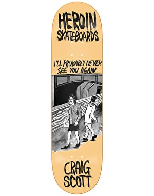 Heroin Questions Wordsmith Skateboard Deck - 8.44