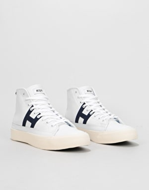 HUF Hupper 2 Hi Skate Shoes - White/Navy