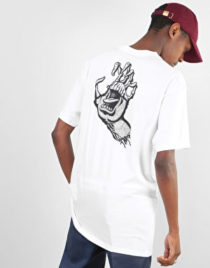 Santa Cruz Tattoo Hybrid Hand T-Shirt - White