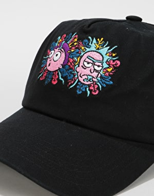 Primitive x Rick & Morty Logo Dad Cap - Black