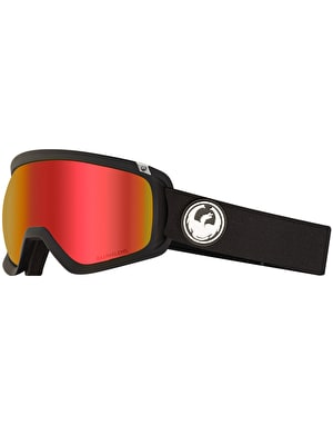Dragon D3 OTG 2019 Snowboard Goggles - Black/LUMALENS® Red Ion
