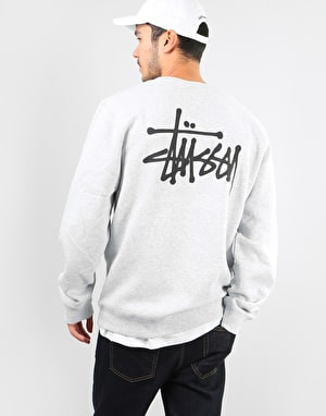 Stüssy Basic Stüssy Crew - Ash Heather