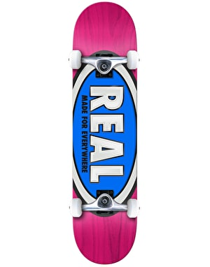 Real Team Ovals Complete Skateboard - 7.75