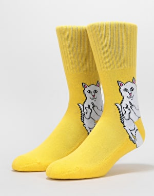RIPNDIP Lord Nermal Socks  - Yellow