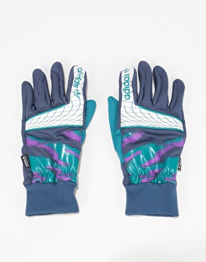 Adidas Goalie Gloves - Collegiate Navy/Real Teal