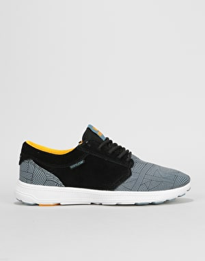Supra Hammer Run Shoes - Black/Blue Print/White