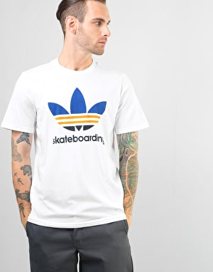 Adidas Clima 3.0 T-Shirt - White/Collegiate Royal/Tactile Yellow