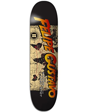 Plan B Felipe World BLK ICE Skateboard Deck - 8.25