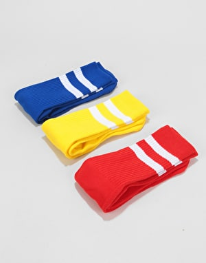 Route One Classic Crew Socks 3 Pack - Primary/White