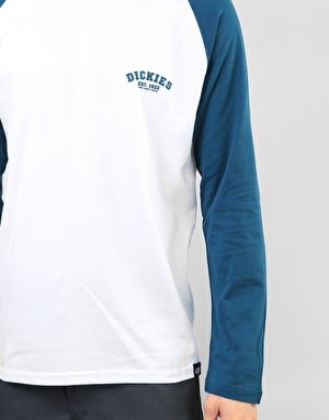 Dickies Long Sleeve Baseball T-Shirts - Dark Teal