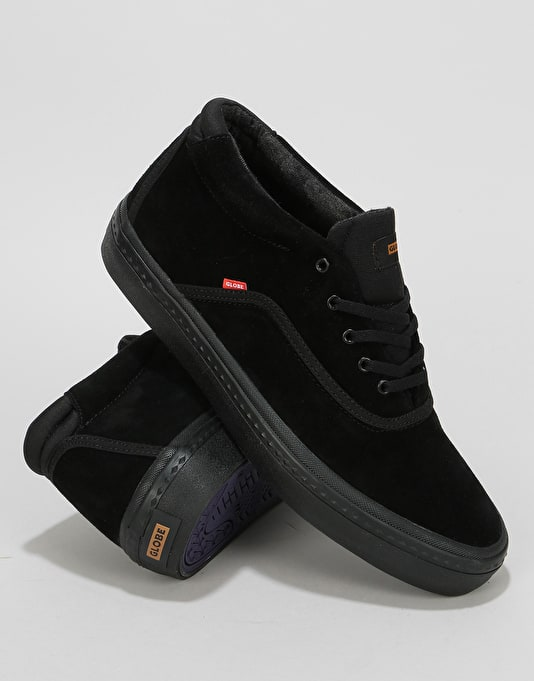 Globe Sprout Mid Skate Shoes - Black/Black