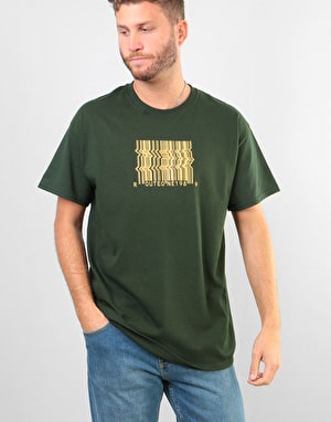 Route One Barcode T-Shirt - Forest Green