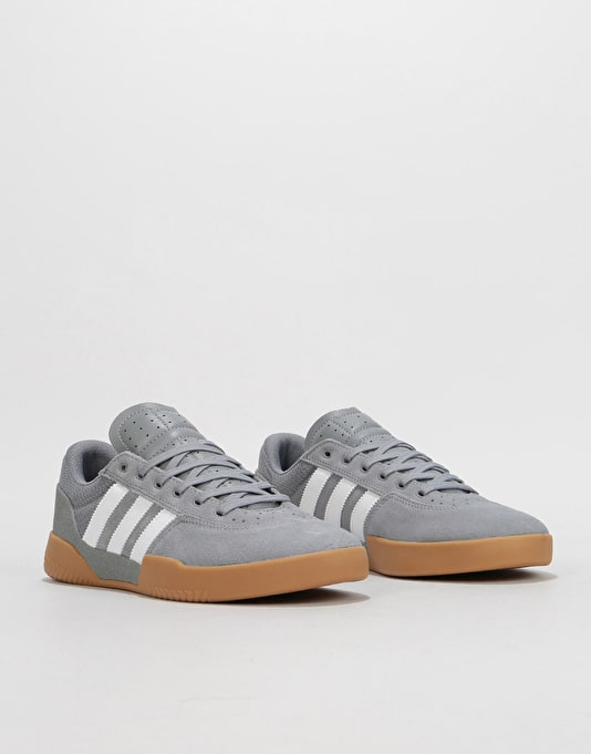 Adidas City Cup Skate Shoes - Grey/White/Gum