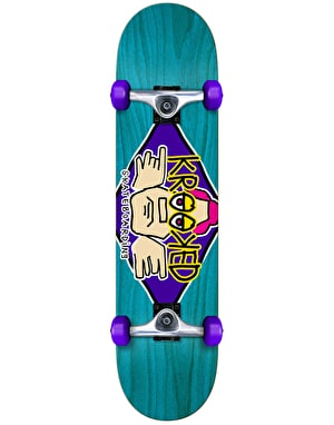 Krooked Diamond Eyes Complete Skateboard - 8