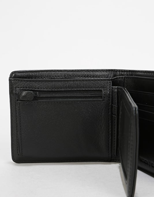 Nixon Satellite Big Bill Bi-Fold Leather Wallet - All Black