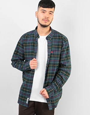 Carhartt L/S Patton Shirt - Patton Check, Cedar/Red