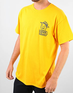 Lovenskate Hope Not Hate T-Shirt - Golden Yellow