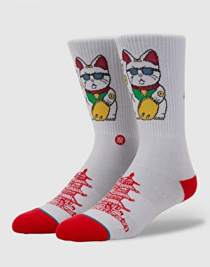 Stance Thank You Enjoy Lightweight Crew Socks - White