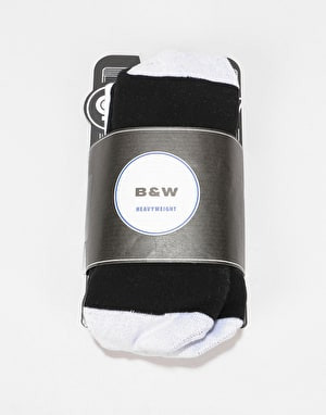 Stinky Black&White Snowboard Socks - Black/White