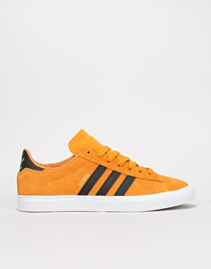 Adidas Campus Vulc II Skate Shoes - Real Gold/Black/White