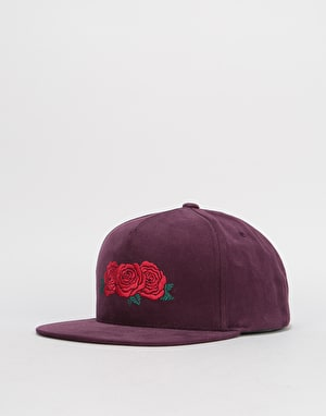 HUF Triple Rose Snapback Cap - Port Royal