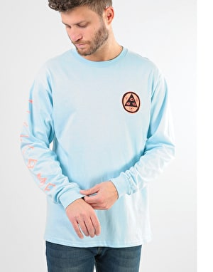 Welcome Sloth L/S T-Shirt - Light Blue/Coral