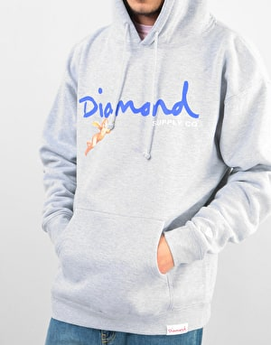 Diamond Trinity Pullover Hoodie - Heather Grey