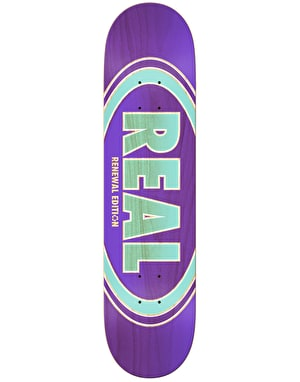 Real Oval Duo Fades Skateboard Deck - 7.56