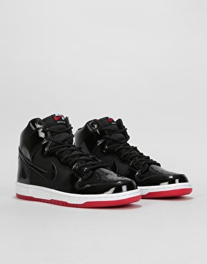 Nike SB Zoom Dunk High TR Skate Shoes - Black/Black-White-Varsity Red