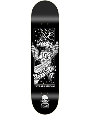 Death Keep On '20 Year' Skateboard Deck - 8.5