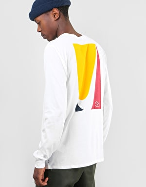 Nike SB Colour Block L/S T-Shirt - White