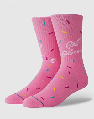 Stance Glazed Classic Crew Socks - Pink