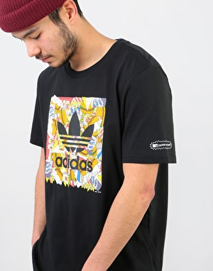 Adidas x Beavis and Butt-Head Blackbird T-Shirt - Black/Multicolor