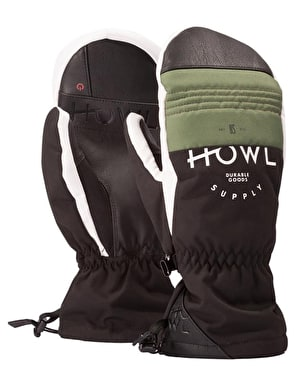 Howl Team 2019 Snowboard Mitts - Olive