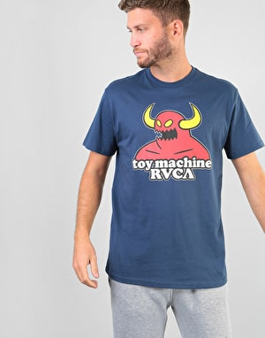RVCA x Toy Machine Logo T-Shirt - Seattle Blue