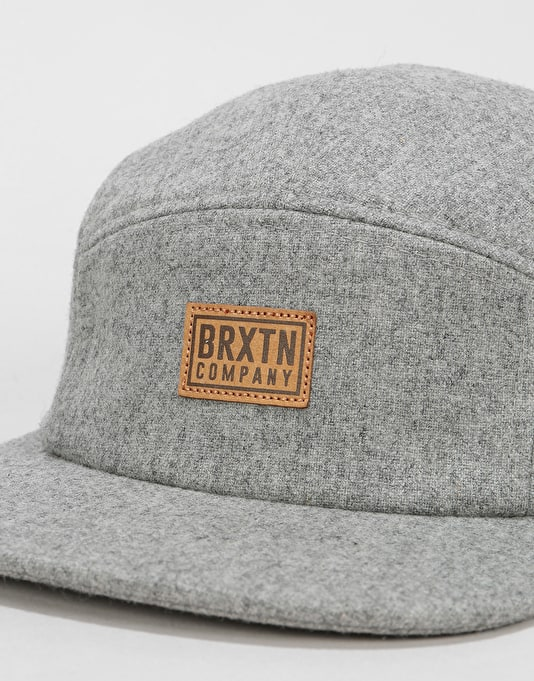 Brixton Quint 5 Panel Cap - Light Heather Grey