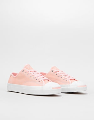 Converse Jack Purcell Pro Ox Skate Shoes - Storm Pink/White/Gum