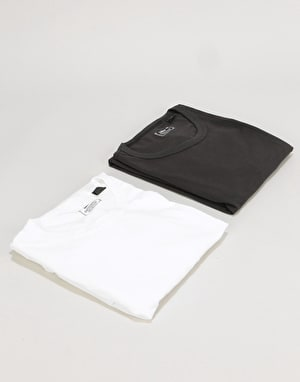 Levi's Skateboarding 2 Pack T-Shirt - Jet Black/Bright White