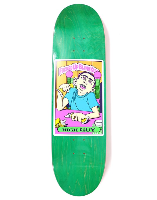 Blind Mariano High Guy Neon FUBK HT Skateboard Deck - 9""