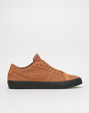 Nike SB Zoom Blazer Low Skate Shoes - Lt British Tan/Black