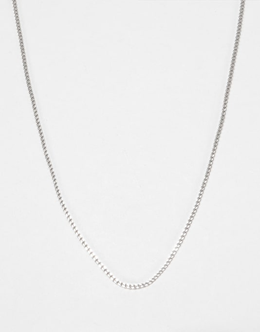 """Midvs Co 22"""" Franco Chain Necklace - White Gold"""