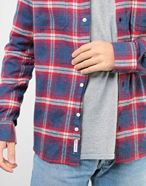 Bellfield Vallegrande Check L/S Flannel Shirt - Crimson