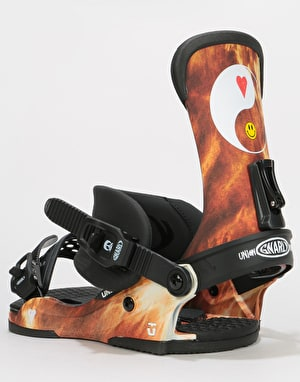 Union x Gnarly Custom House 2019 Snowboard Bindings - Acid Wash